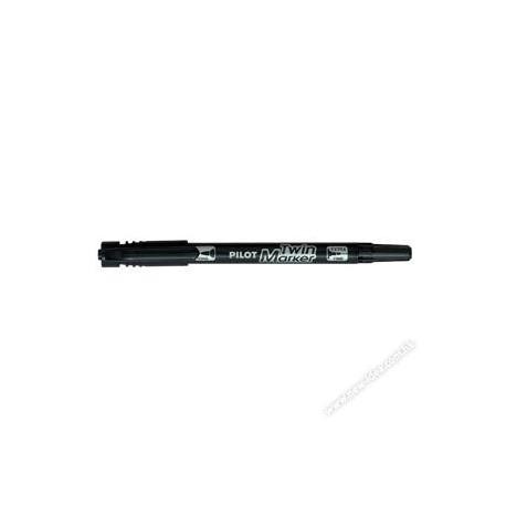 Pilot SCA-TM 2-in-1 2-Head Permanent Marker 0.5mm-1mm Black