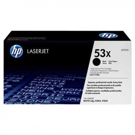 HP Q7553X 53X Toner Cartridge Black