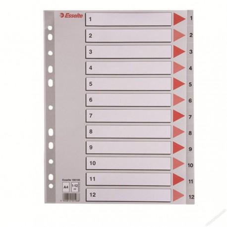 Esselte 100106 PVC Index Divider A4 1-12