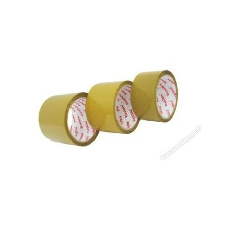 "Red Flexible OPP Packing Tape 3""x40yds Brown"