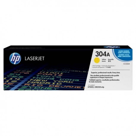 HP CC532A 304A Toner Cartridge Yellow