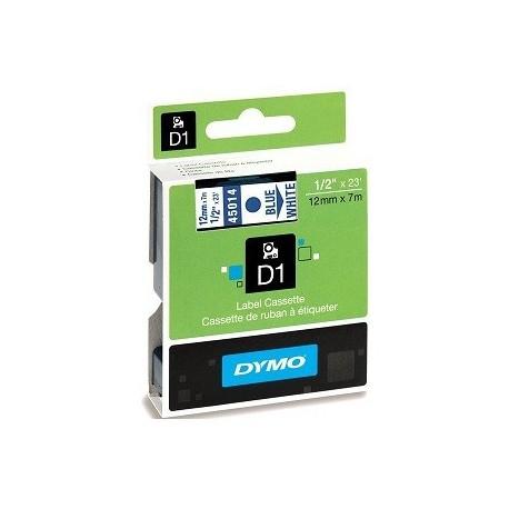 Dymo 45014 D1 Tape 12mmx4M Blue On White