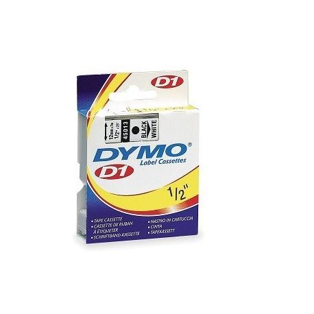 Dymo 45013 D1 Tape 12mmx4M Black On White