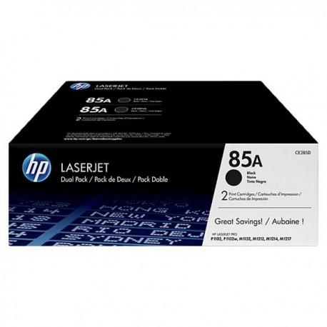 HP CE285AD 85A Toner Cartridge Dual Pack Black