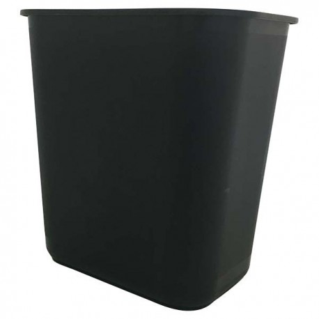 Rectangular Rubbish Bin Black