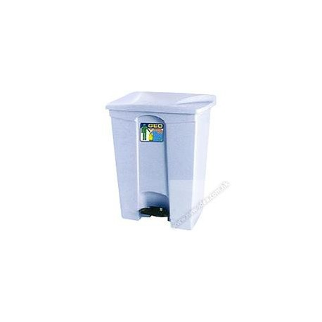 GEO 70 Rectangular Step On Rubbish Bin 70Litre Grey