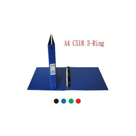 Database C518 3D-Ring Binder A4 25mm Black,Blue,Green,Red