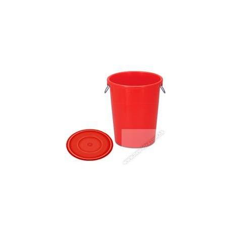 Red A 249/250 Rubbish Bin w/Cover 64Litre Red