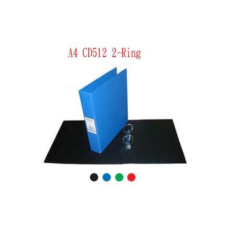 Database CD512 2D Ring Binder A4 38mm Black,Blue,Green,Red