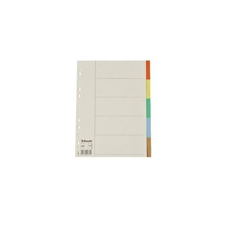Esselte 44877 PVC Color Index Divider A4 5Tabs