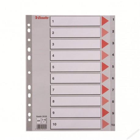 Esselte 100105 PVC Index Divider A4 1-10