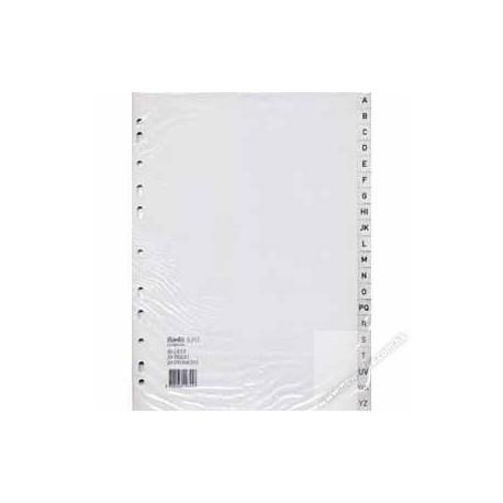 Bantex 6286 PVC Index Divider A4 A-Z Grey