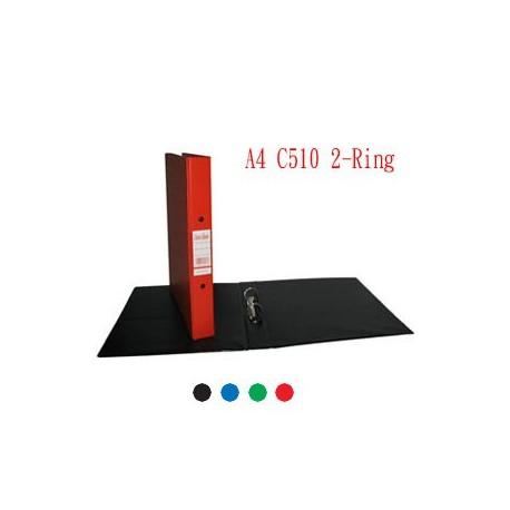 Database C510 2D Ring Binder A4 25mm Black,Blue,Green,Red