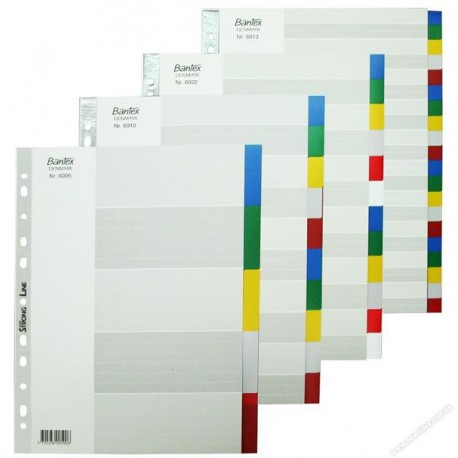 Bantex 6022 PVC Color Index Divider A4 12Tabs