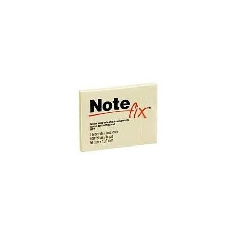 "3M Note fix NF3 Self-Stick Removable Note 1-1/2""x2"" 12Pads Yellow"