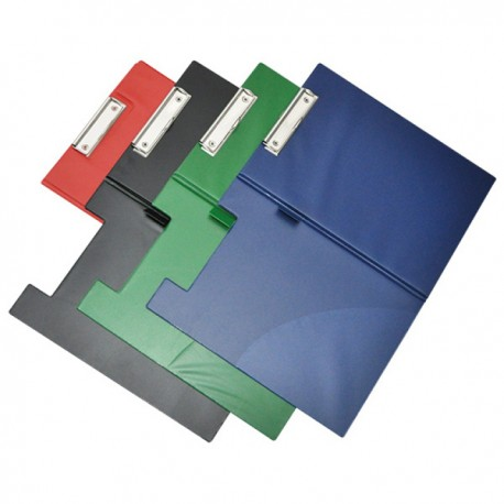 731 PVC Clip Board w/Cover F4 Black
