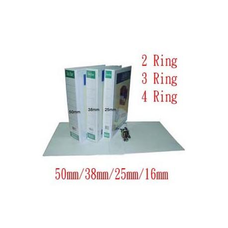 Database IB-500 2D Ring PVC Insert Binder A4 16mm White/Black/Blue/Red