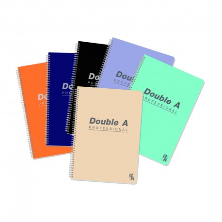 "Double A Professional Wire Ring Note Book B5 7""x10"" 80Pages"