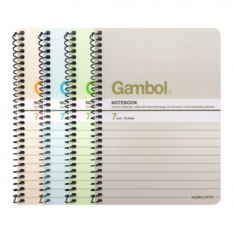 "Gambol SA6506Y Wire Ring Note Book A6 4""x6"" 50Pages"
