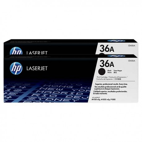 HP CB436AD 36A Toner Cartridge Dual Pack Black