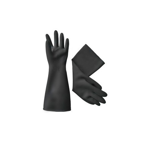 Industrial Rubber Gloves Medium Black