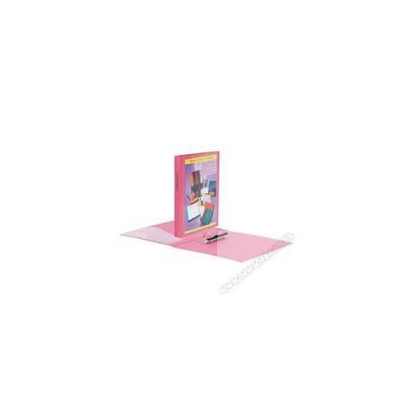 Database 640C 兩孔D圈插頁活頁膠文件夾 A4 25毫米 粉紅色