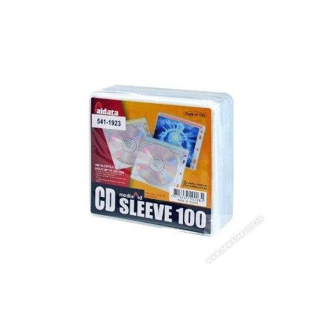 Aidata CD2B-100 Double Side CD Sleeves 100's