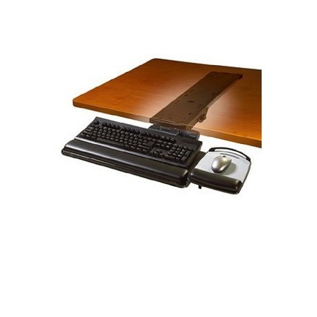 3M AKT-150LE Adjustable Ergonomic Under Desk Mount Keyboard Tray w/Mouse Pad