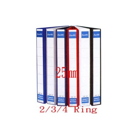 Bantex 1282 2D Ring PVC Insert Binder A4 25mm Black