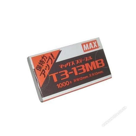 Max T3-13MB Gun Tacker Staples 13mm 1000's