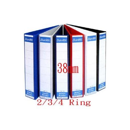 Bantex 1283 2,3,4D Ring PVC Insert Binder A4 38mm