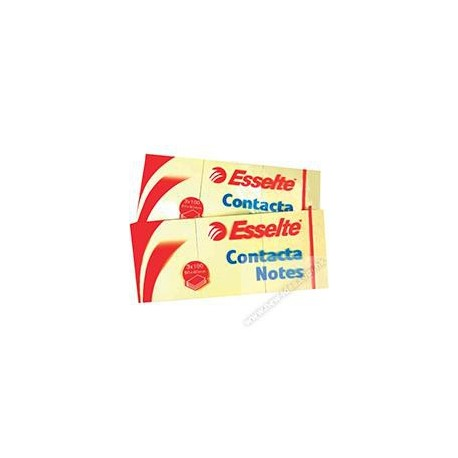 "Esselte 83012 Contacta Note 1.5""x2"" 12Pads Yellow"