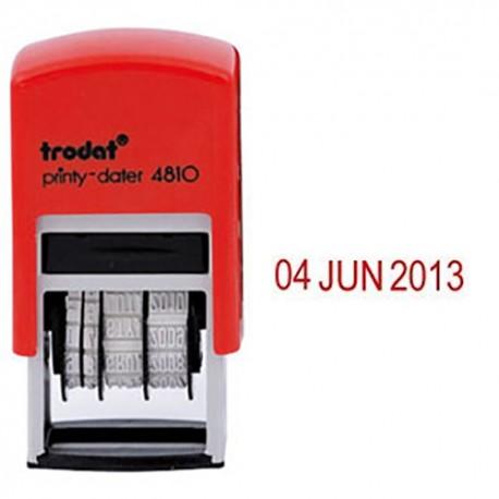 Trodat 4810 Self-Inked Date Chop 3mm Red