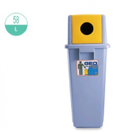 GEO 58C Can And Plastic Bottle Recycle Rubbish Dustbin