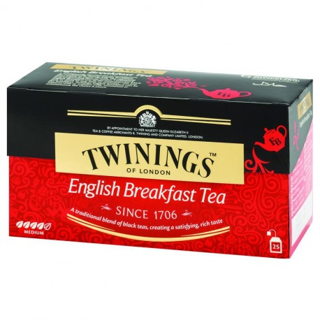 Twinings Teabags English Breakfast Tea 25's