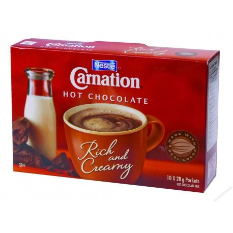 Carnation Hot Cocoa Mix Rich Chocolate 25g 10Packs