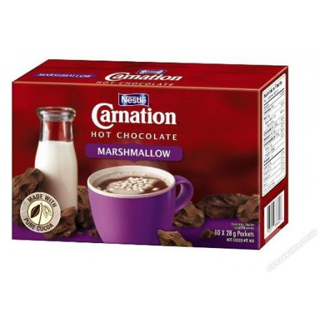 Carnation Hot Cocoa Mix w/Marshmallow 25g 10Packs