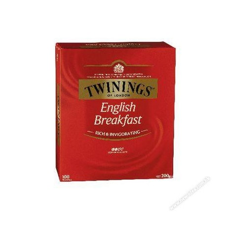 Twinings Teabags English Breakfast Tea 100's