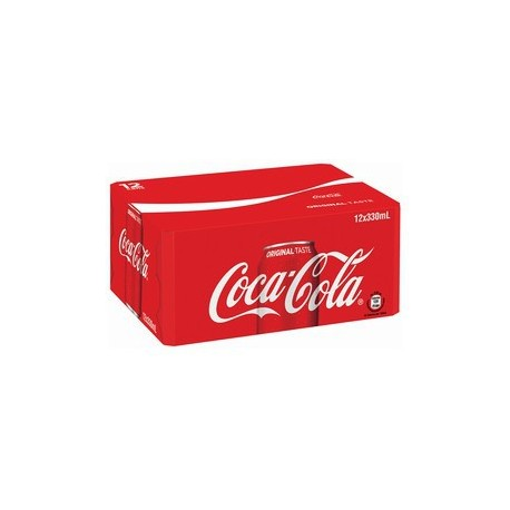 Coca-Cola Soft Drink Regular 330ml 12Cans