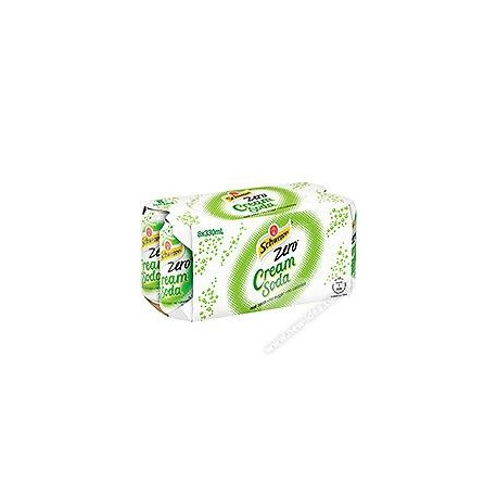 Schweppes Cream Soda Soft Drink Zero 330ml 8Cans