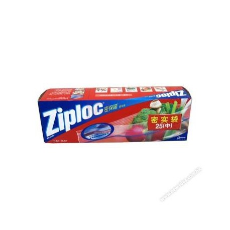 Ziploc Food Storage Bag Quart 25's