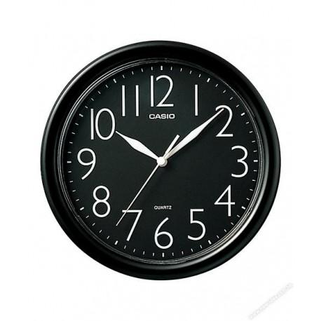 "Casio IQ-01-1R Wall Clock 10"" Black Frame"