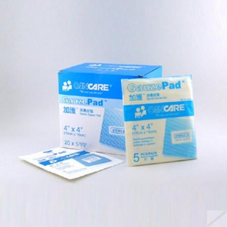 "Cancare Gauze Pad 4""x4"" 5's"