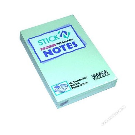 "Stick-N 21147 Note 2""x3"" Green"