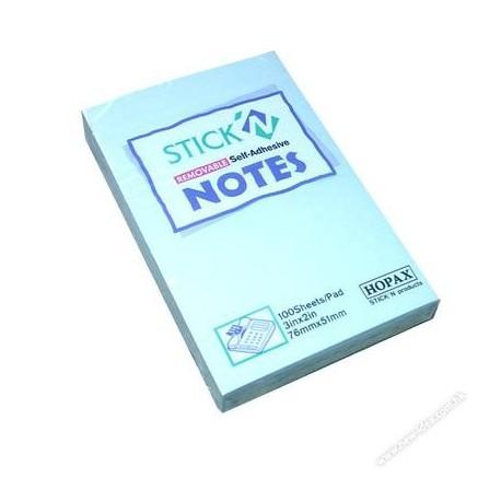 """Stick-N 21146 Note 2""""x3"""" Blue"""