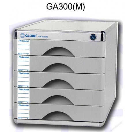 Globe GA300M Desktop Filing Cabinet w/Lock and 5-Drawer A4