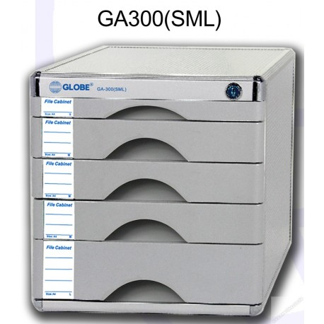 Globe GA300SML Desktop Filing Cabinet w/Lock and 5-Drawer A4