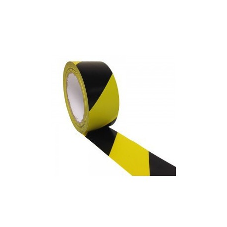 "Warning PP Adhesive Tape 3"" Yellow Black"
