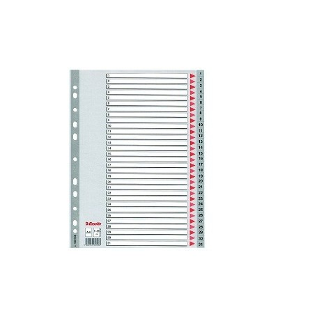 Esselte 100108 PVC Index Divider A4 1-31