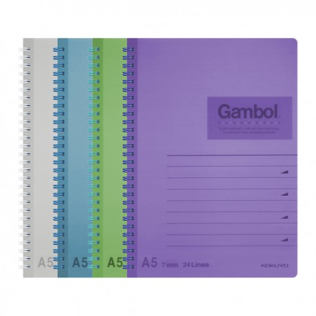 Gambol DS1488 PP Twins Wire Ring Note Book A5 80Pages
